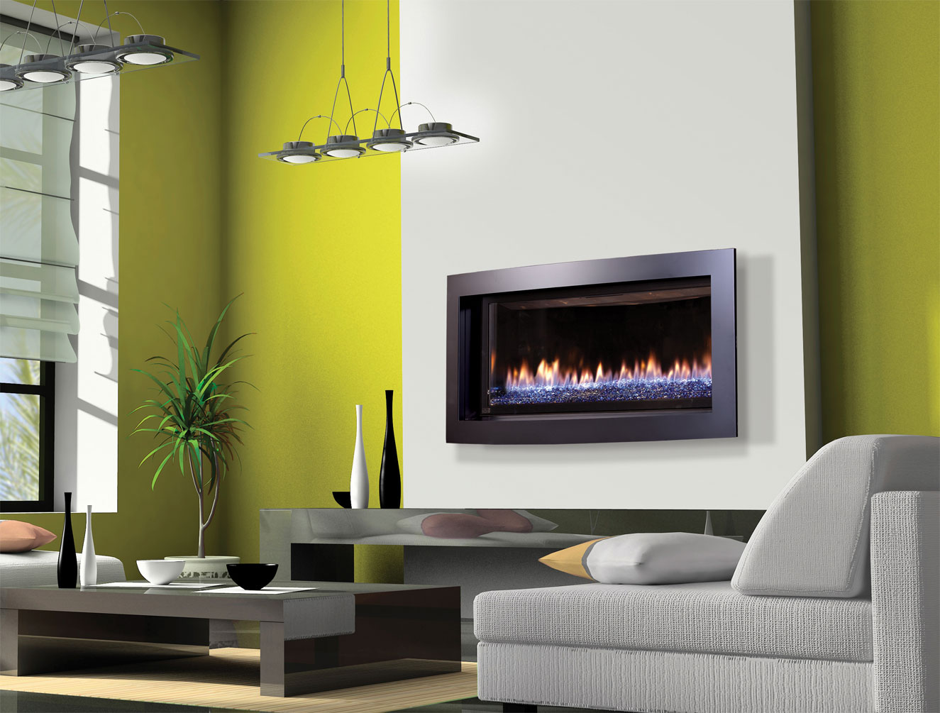 Natural gas wall mount fireplaces - Wall Mounted Natural Gas Fireplace